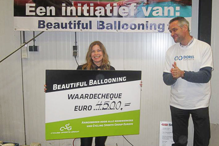 Cycling Sports Group doneert aan Beautiful Ballooning