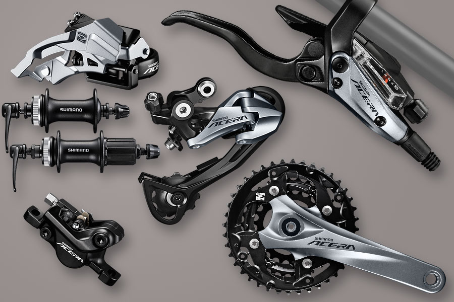 Nieuwe Shimano Acera-mountainbikegroepset