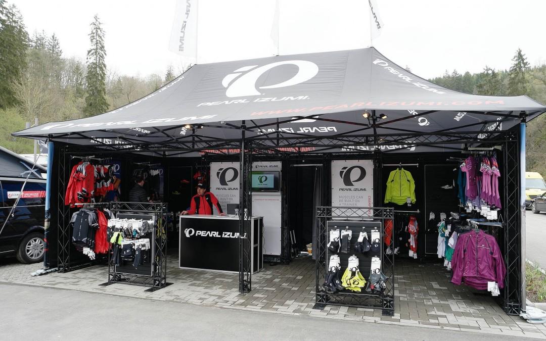 Pearl Izumi Pop Up store bij fiets-evenementen