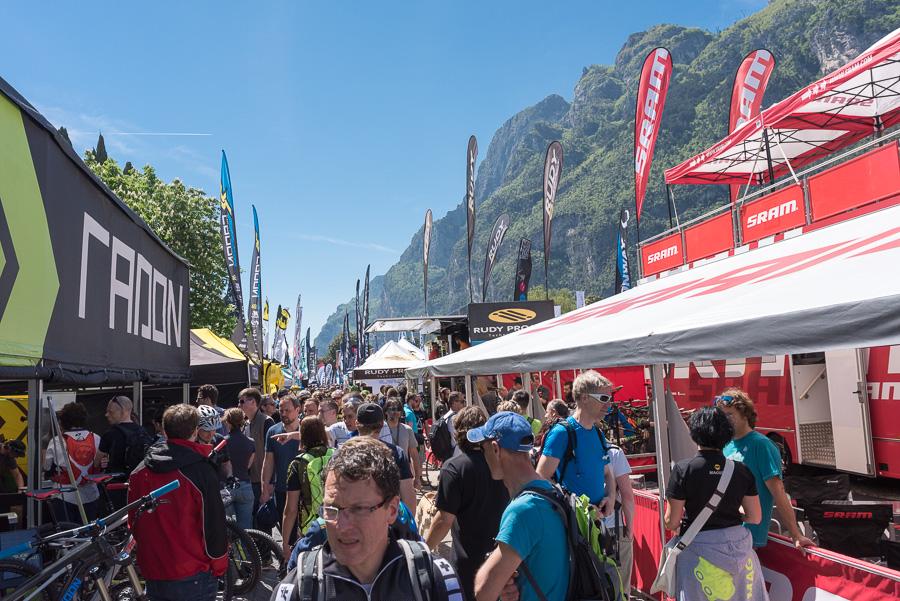 Sfeerbeelden Riva Bike Festival met Hans Rey