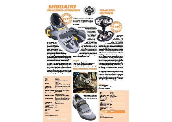 Shimano SH-M163G-schoenen