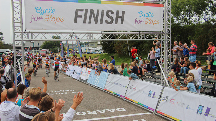 Cycle for Hope - finish