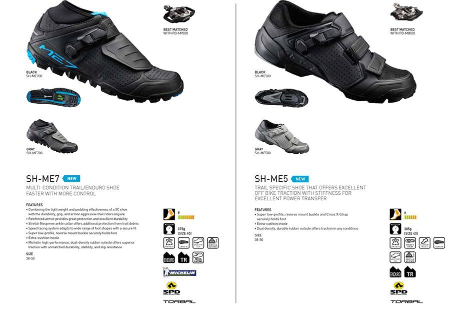 Nieuwe Shimano-schoenen voor zomer en winter