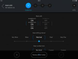 Shimano E-Tube app