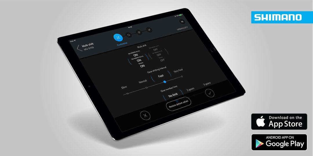 Instellen Shimano Di2 nu mogelijk met E-Tube app