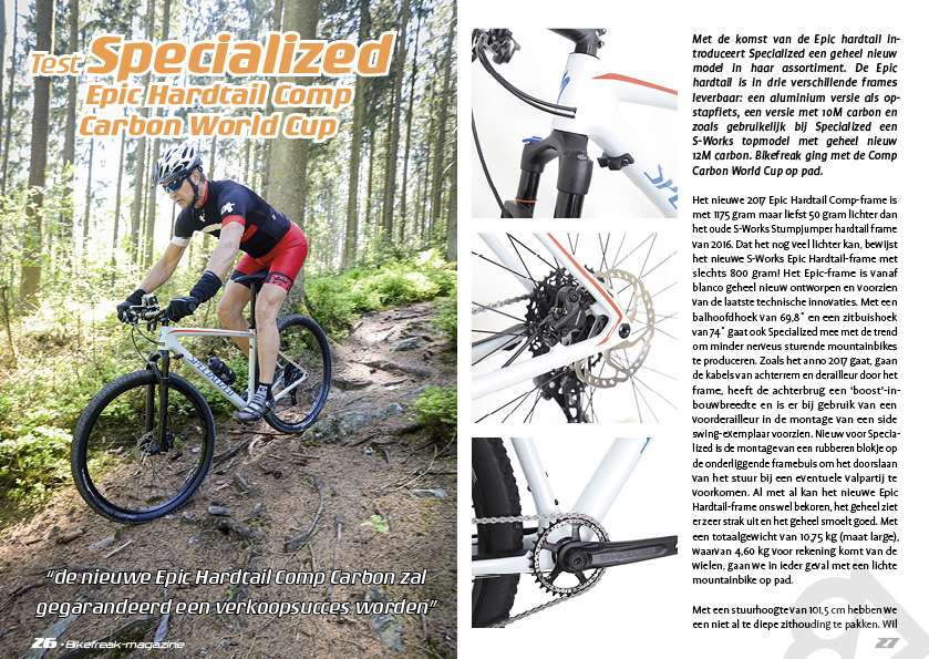 Test Specialized Epic Hardtail Comp Carbon World Cup