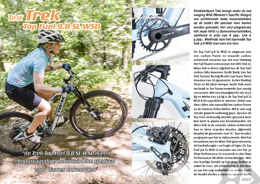 Test Trek Top Fuel 9.8 SL WSD