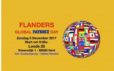 Flanders Global Fatbike Day in Gent op 3 december 2017