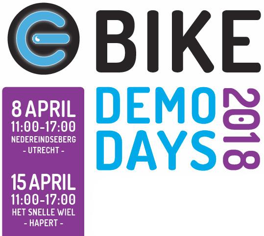 e-Bike demo days: 8 & 15 april 2018