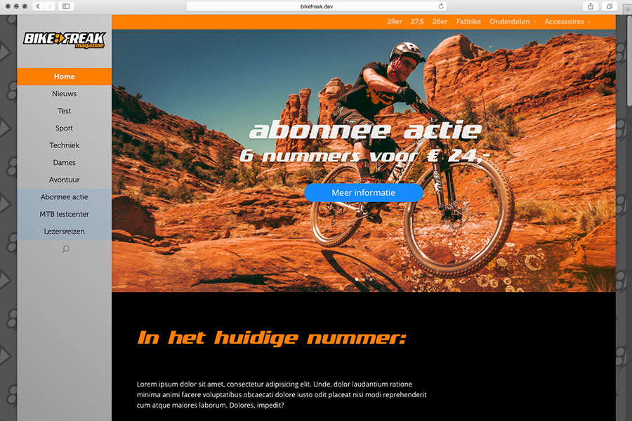 Nieuwe website Bikefreak-magazine