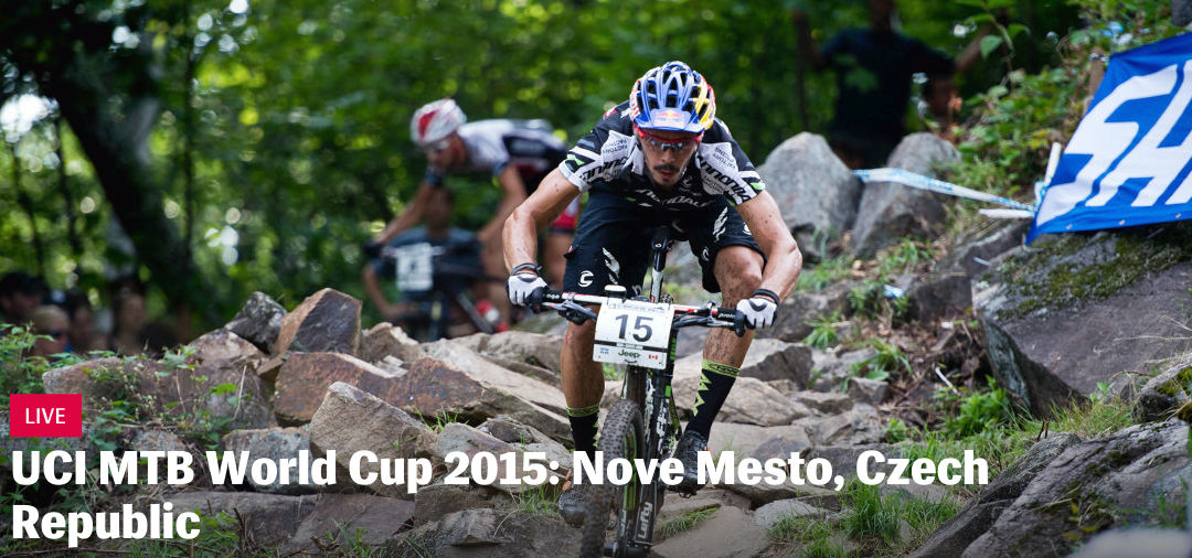 Live coverage UCI MTB World Cup 2015 in Nove Mesto, Tsjechië
