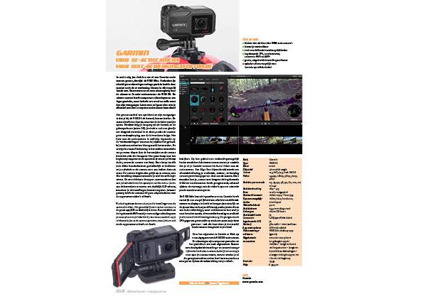 Garmin Virb XE-actiecamera en Virb Edit-bewerkingssoftware