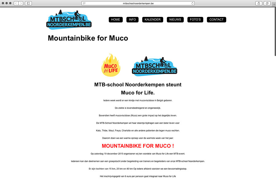 MTBSCHOOL Noorderkempen en T&T for Muco op zaterdag 19 december