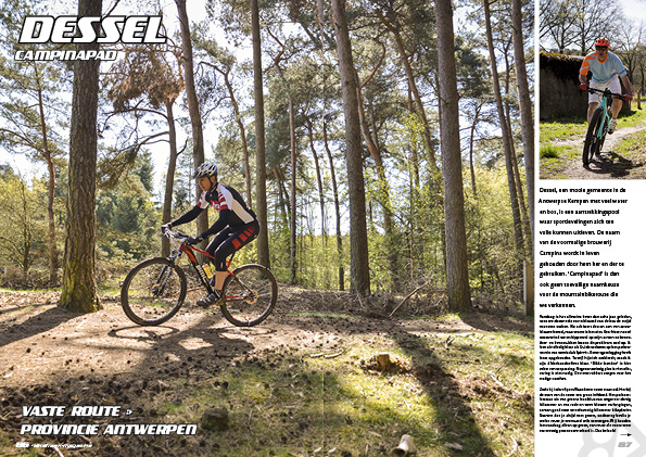 Mountainbikeroute – Dessel, Campinapad