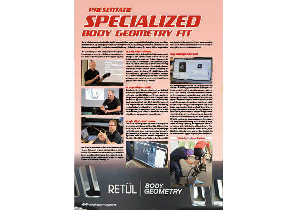 Presentatie – Specialized Body Geometry Fit