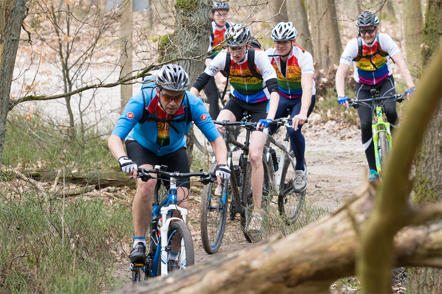 Mountainbiken in de strijd tegen verslaving