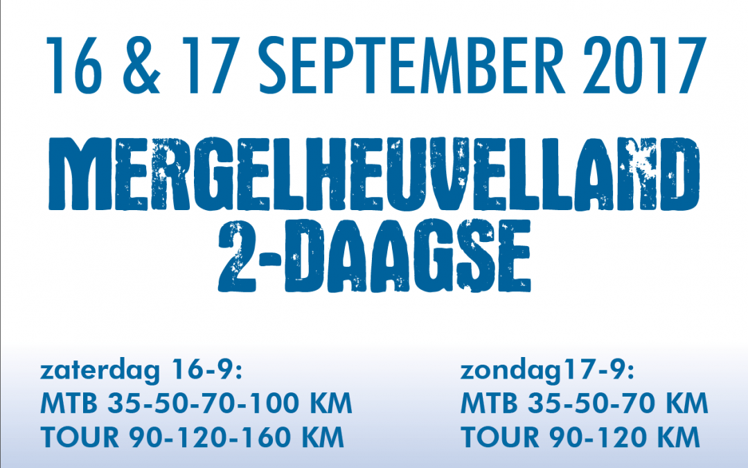 Mergelheuvelland 2-daagse 16 & 17 september 2017