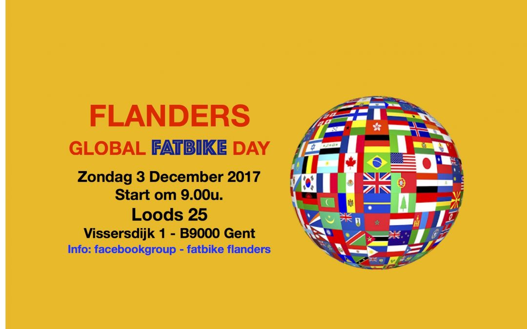 Flanders Global Fatbike Day in Gent op 3 december 2017