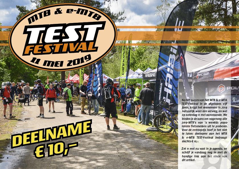 MTB & e-MTB TEST Festival 11 mei 2019