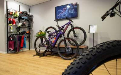 Stappenbelt E-Bike geopend