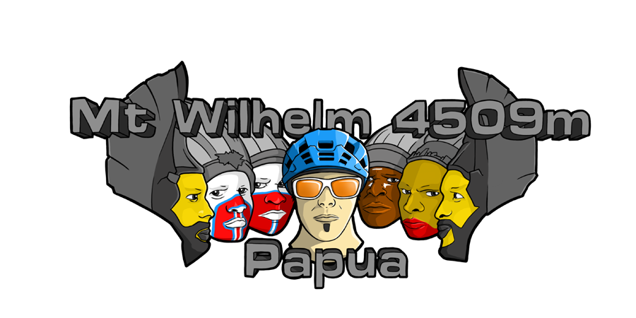 Logo MT Wilhelm 4509 m Papoea