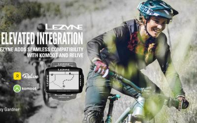 Lezyne breidt haar GPS-platform uit met Komoot en Relive